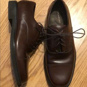Rockport men's casual dress shoes brown 10